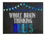 Whole Brain Teaching Chalkboard Poster Set