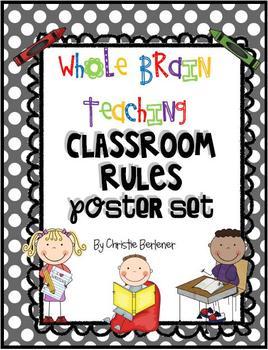Whole Brain Teaching Classroom Rules Poster Set