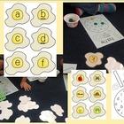 Egg Flip alphabet/initial sound game