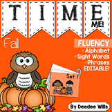 Whoo! Whoo!  Time Me! Fall Alphabet, Word, and Phrase Flue