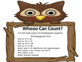 Whooo Can  Count?  Fun fall math counting centers for kind