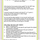 Why do kids come to speech therapy? Handout and discussion
