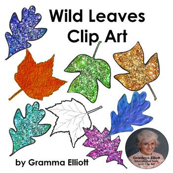 Clip Art Freebie - Wild Leaves - Maple - Oak - Tulip Tree