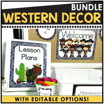 Wild West Editable Classroom Organization Pack