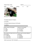Winter Animals Hibernate and Migrate Reading Comprehension