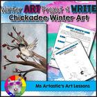 Winter Art and Writing - Chickadee Mixed Media Art Piece a