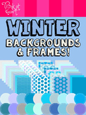 Winter Backgrounds and Frames