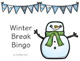 Winter Break Bingo