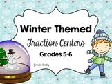 Winter Fraction Centers: Common Core Aligned Grades 4-6