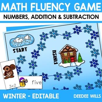 Math Fluency:  Winter Friends