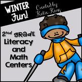 Winter Fun: 6 Literacy and 6 Math Centers