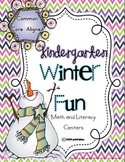 Winter Fun Kindergarten Centers (Common Core Aligned)