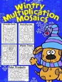 Winter Fun! Multiplication Mosaics-Color By Number-Math Fa