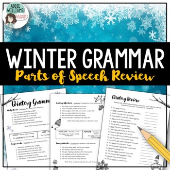 Parts of Speech Review - Winter Theme