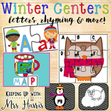 Winter Kindergarten Literacy Centers