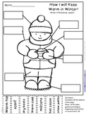 Winter Labeling Activity for Writer's Workshop:  How I wil