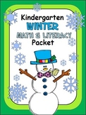 Winter Math And Literacy Packet For Kindergarten