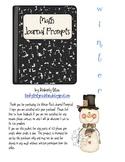 Winter Math Journal Prompts