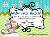 Winter Math Stations