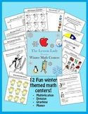 Winter Math Worksheets for Centers and Stations