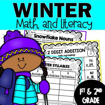 Winter Math and Literacy Printables (64) pages Great for centers and stations