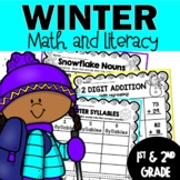 Winter Math and Literacy Printables (64) pages Great for c