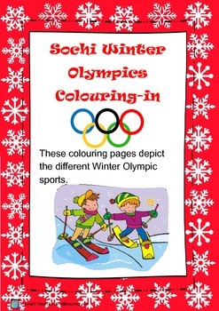 Winter Olympics 2014 Coloring-in Pages