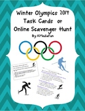 Winter Olympics 2014 Task Cards or Online Scavenger Hunt B