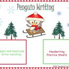 Winter Penguin Writing Practice Game