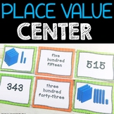 Winter Place Value Math  Center  Statons Tubs
