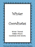 Winter Themed Hidden Picture Coordinate Grid