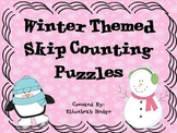 Winter Themed Skip Counting Puzzles