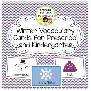 Winter Vocabulary Cards for Preschool and Kindergarten Image