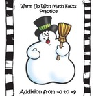 Winter Warm Up to Math Facts Practice (+0 to +9)