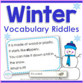 Inference, Key Details, and Vocabulary ~ Winter Riddles