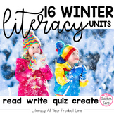Winter Writing, Reading, Fluency, and Art (Bundle of Dec-M