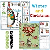 Winter and Christmas Themed Vocabulary Cards Combo
