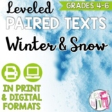 Paired Texts: Winter and Snow Grades 4-8 (Constructed Response)