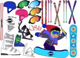Winter,skiing, snowboards Clip Art ski sport Equipment Gea