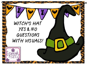 Witch's Hat Yes No Questions with Visuals FREEBIE