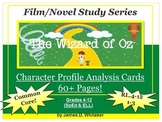 Wizard of Oz Character Analysis Profile Cards Common Core