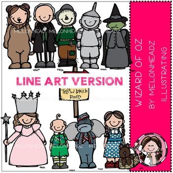 Wizards of Oz LINE ART bundle by melonheadz