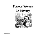 Women in History Information Gap Activity