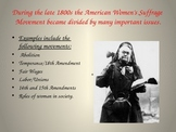 Women's History: Alice Paul and the 19th Amendment PowerPoint