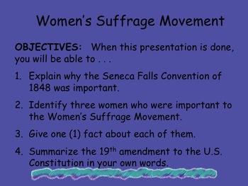 essay on suffragettes