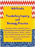 Wonder Girls 4th Grade Wonders: Unit 3 Vocabulary Inquiry