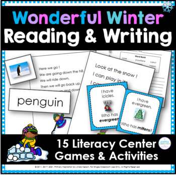 Wonderful Winter Literacy: 14 K-2 Center Activities