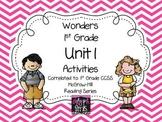 Wonders 1st Grade Unit 1 Activities, Weeks 1-5