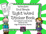 Wonders 2nd Grade Sight Word Sticker Book for McGraw Hill