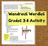 Wondrous Wordles!